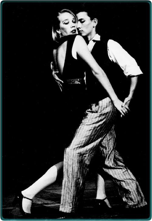 Brigitta Winkler and Agelika Fischer dance tango in the 1980s
