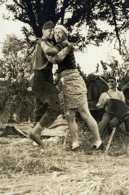 Two German soldiers dancing – World War II