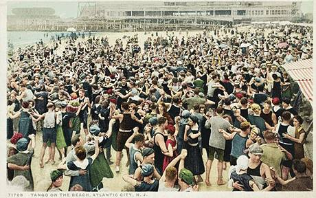 Tango on the Beach, Atlantic City, N.J. c1910-1917