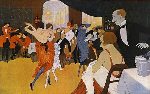 En el cabaret, by Fabius Lorenzi 1920s (?)