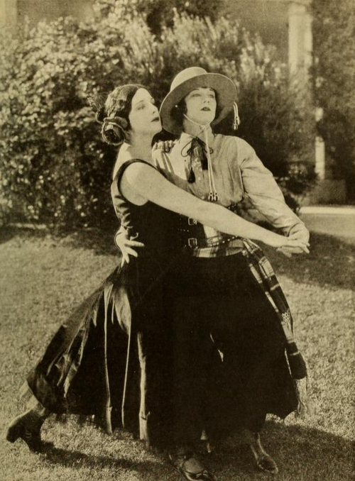 Viola Dana and Shirley Mason as Mr and Mrs Rudolph Valentino 1924