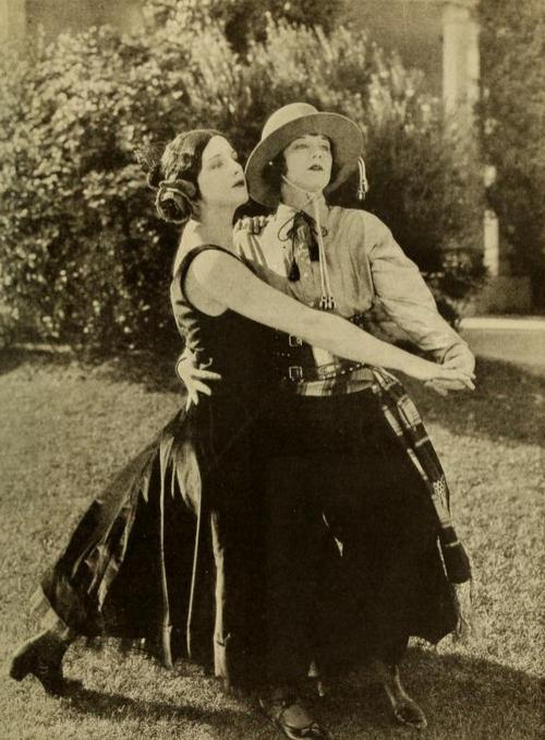 Viola Dana and Shirley Mason as Mr and Mrs Rudolph Valentino 1924