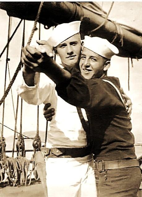 A pair of WWI Sailors do the Tango