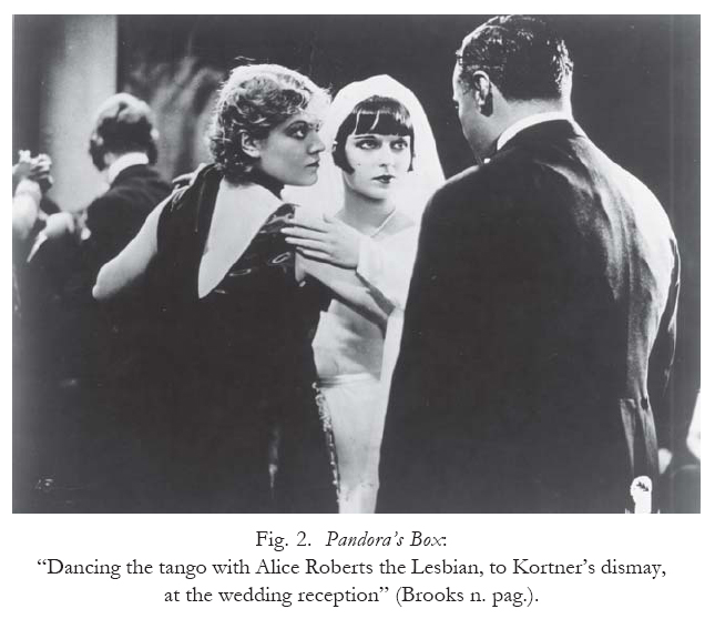 The lesbian, Countess Geschwitz, dances tango with Lulu, in 'Pandora's Box' 1929