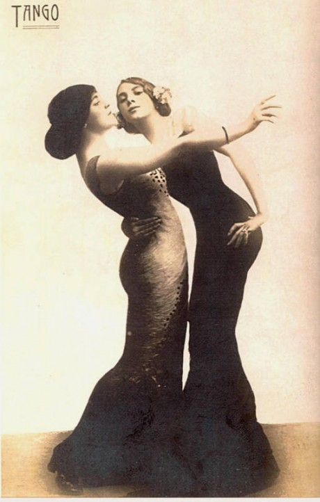 Another in a French postcard series showing a couple of two women, c1913?