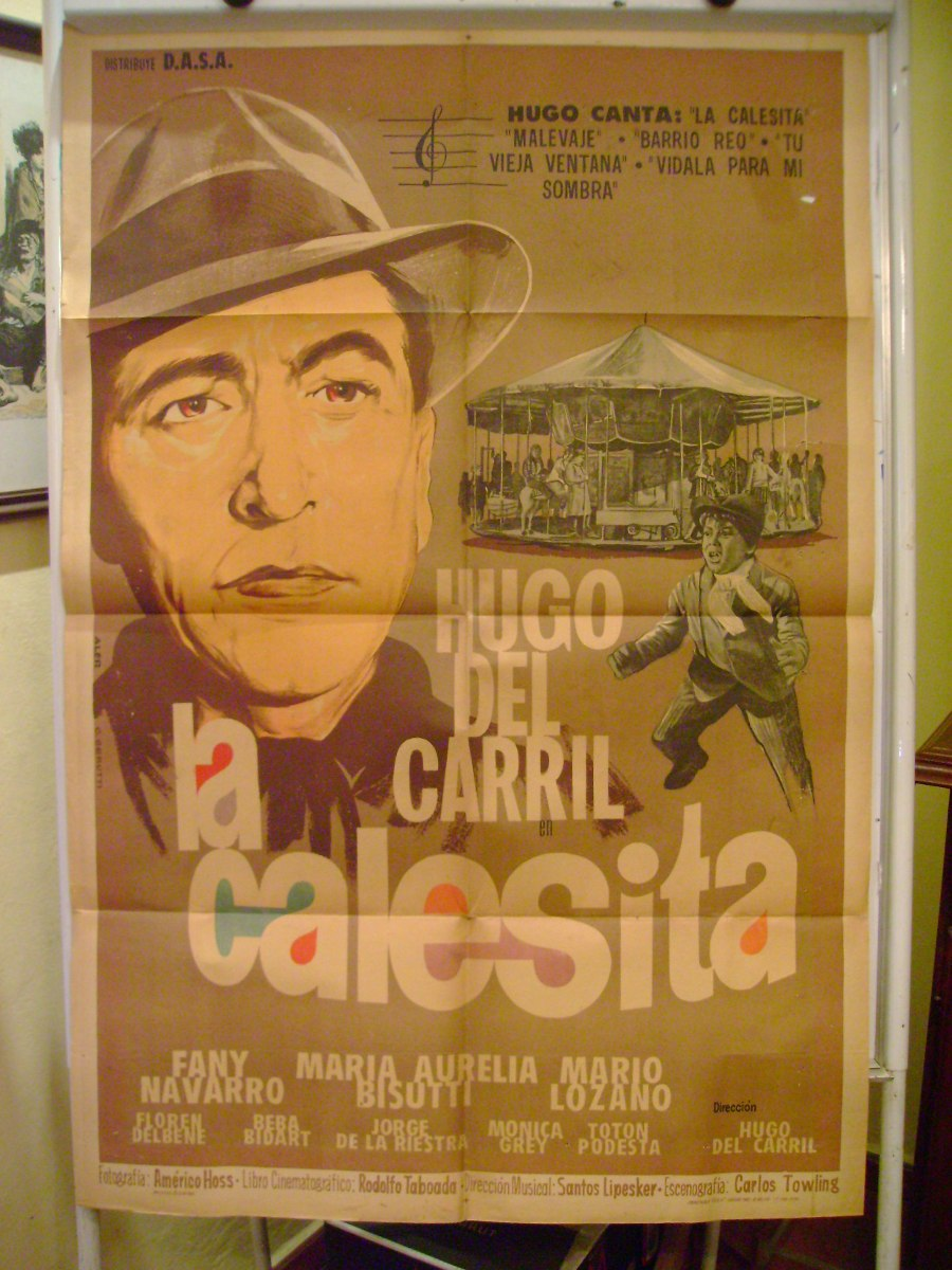 Poster for 'La calesita' Argentinian film in which men dance, 1963