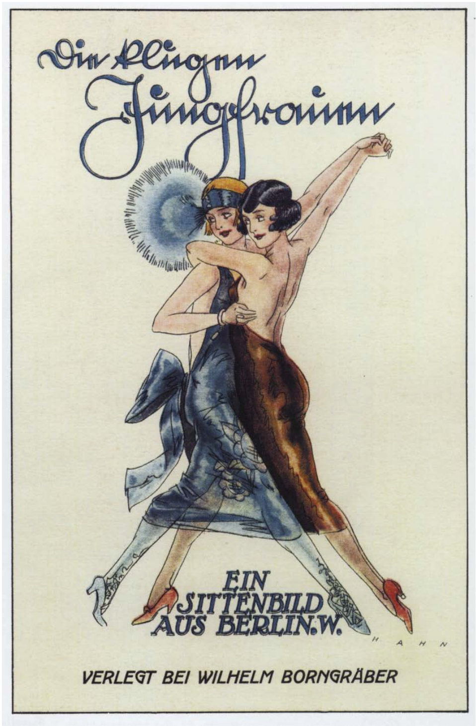 German book cover, 1924 – women dancing tango..?