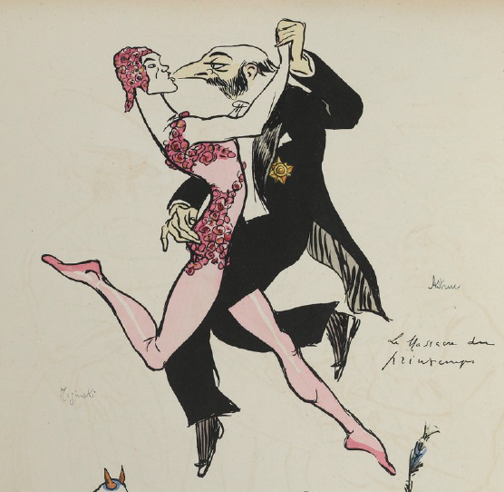 Sem Cartoon 1913: Nijinsky and impresario Gabriel Astruc