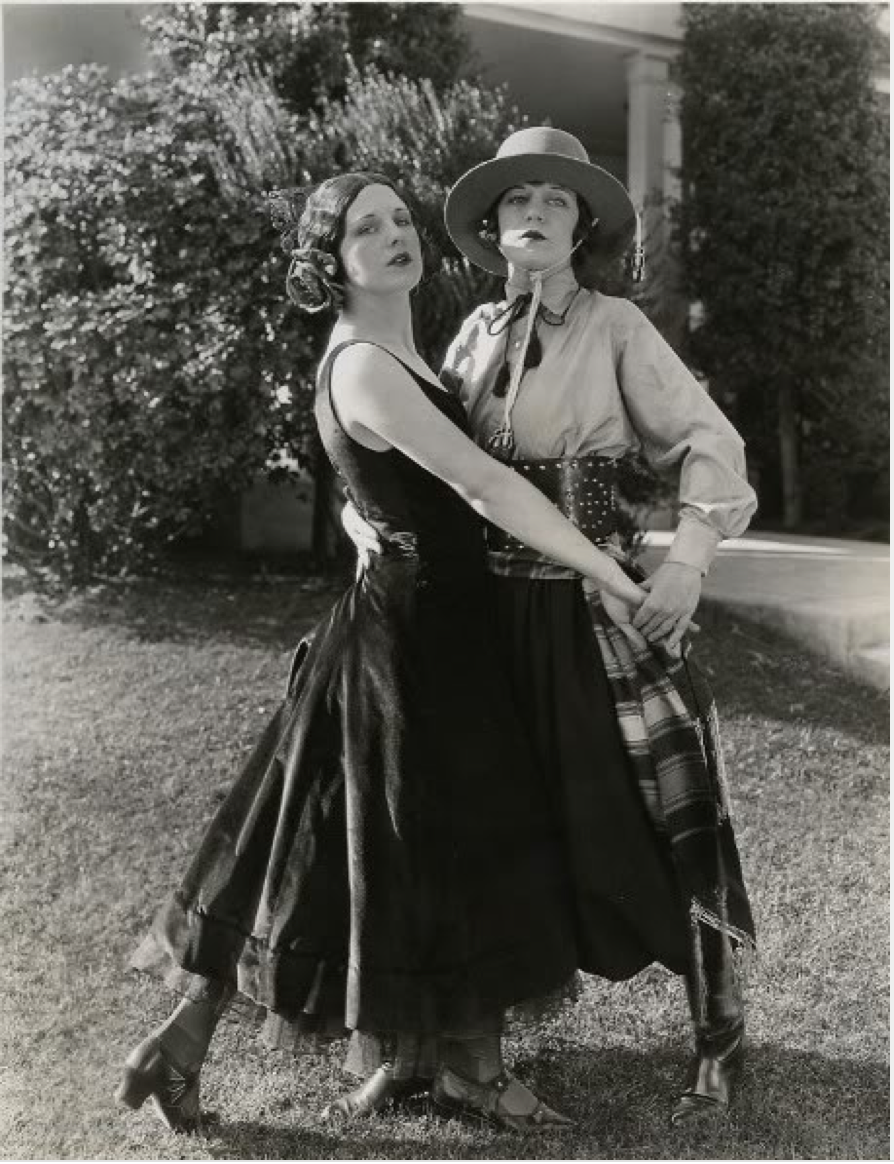Another photo of Viola Dana and Shirley Mason as Mr and Mrs Rudolph Valentino 1924