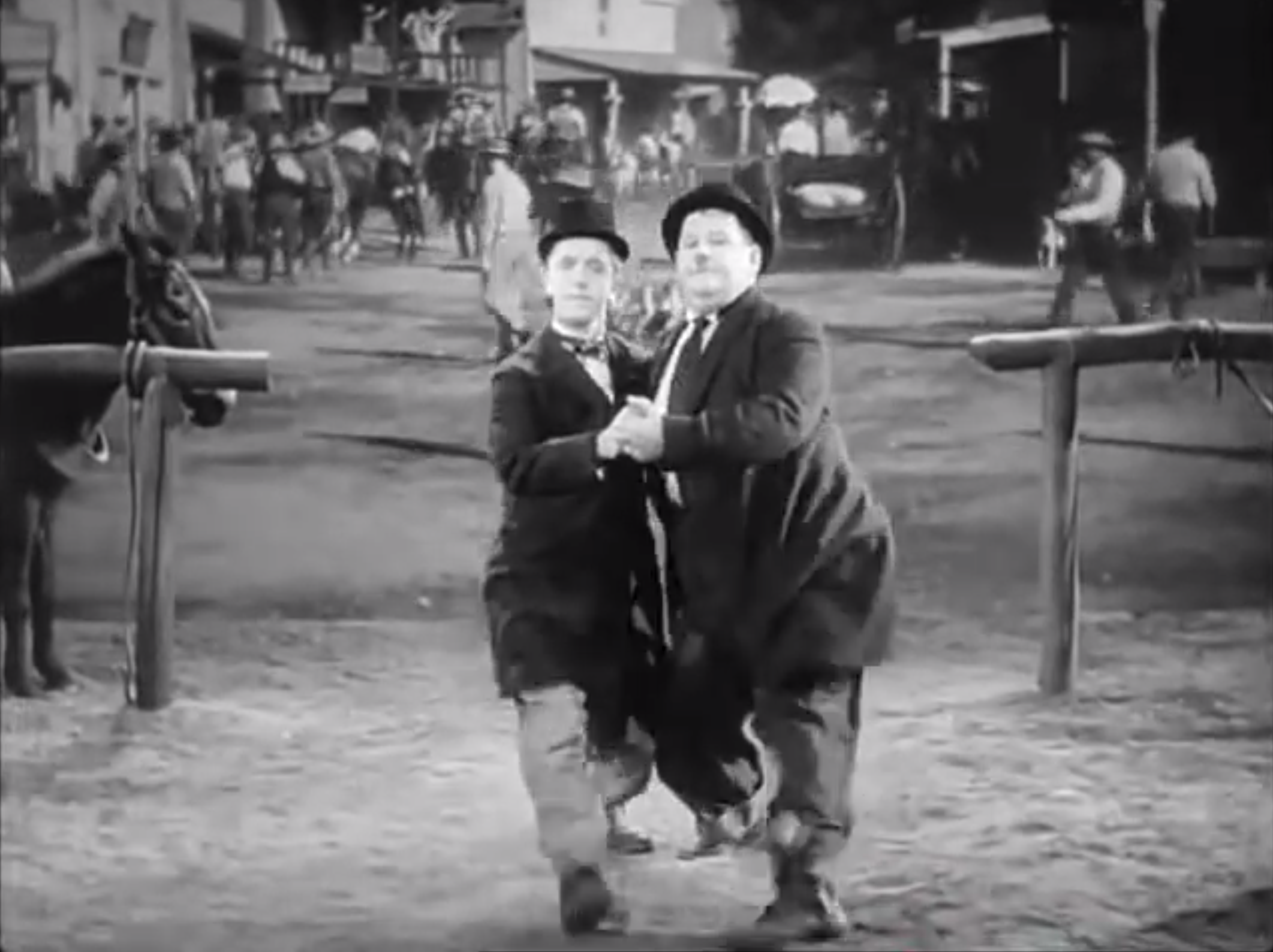 Laurel & Hardy Dance Tango in a Movie, 1937