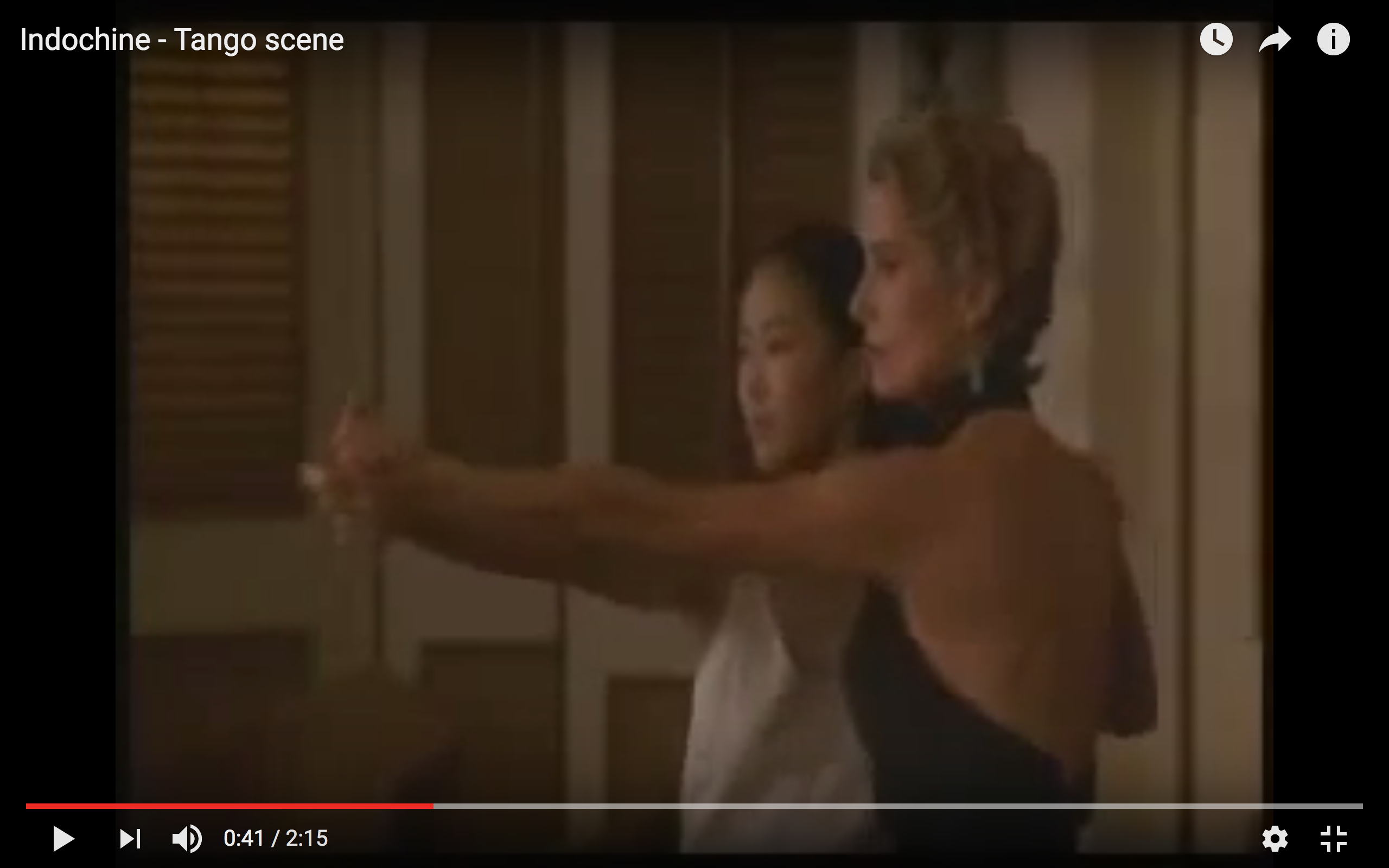 "Film clip, ""Indochine"" 1992, Catherine Deneuve and Linh Dan Pham"