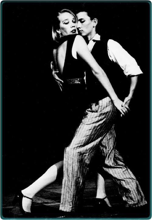 Brigitta Winkler and Agelika Fischer dance tango in the 1980s