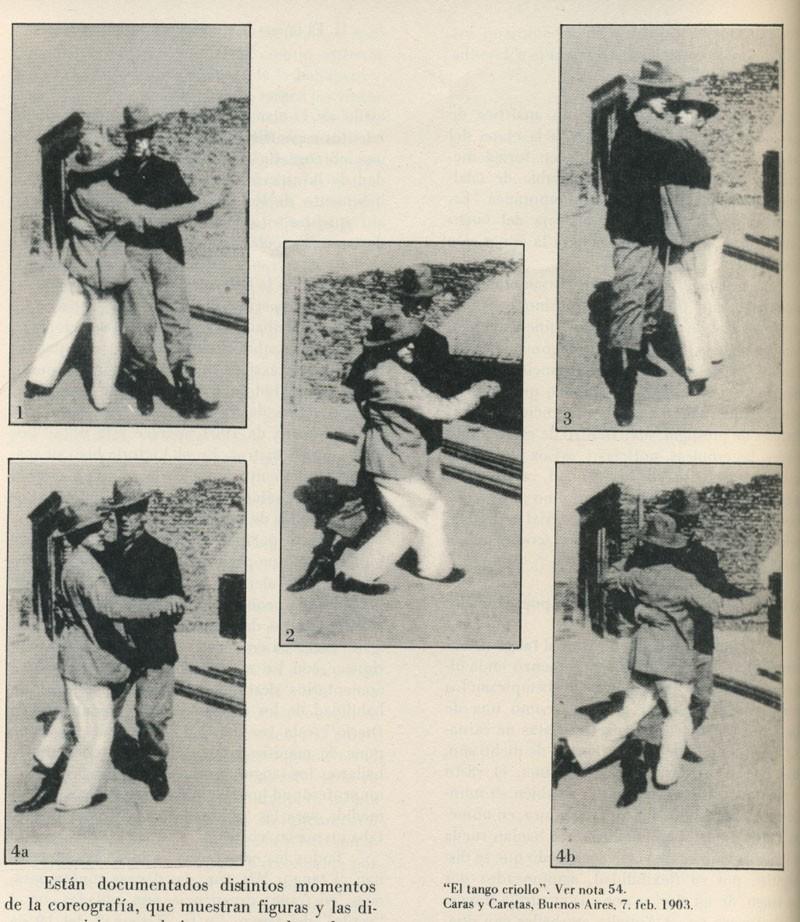 Arturo de Navas(?) dancing with another man, Buenos Aires, 1903