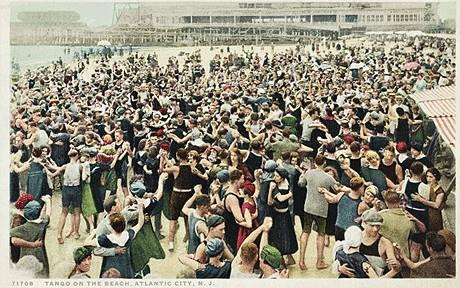 Tango on the Beach, Atlantic City, N.J. c1910-1917