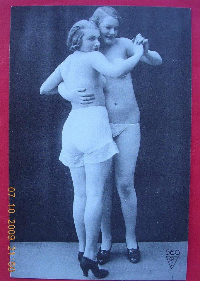 1920s/1930s Italian[?] Nearly Nude Tango [?] Dancers