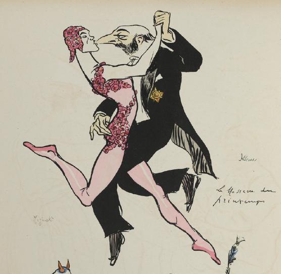 Sem Cartoon 1913: Nijinsky and impresario Gabriel Astruc