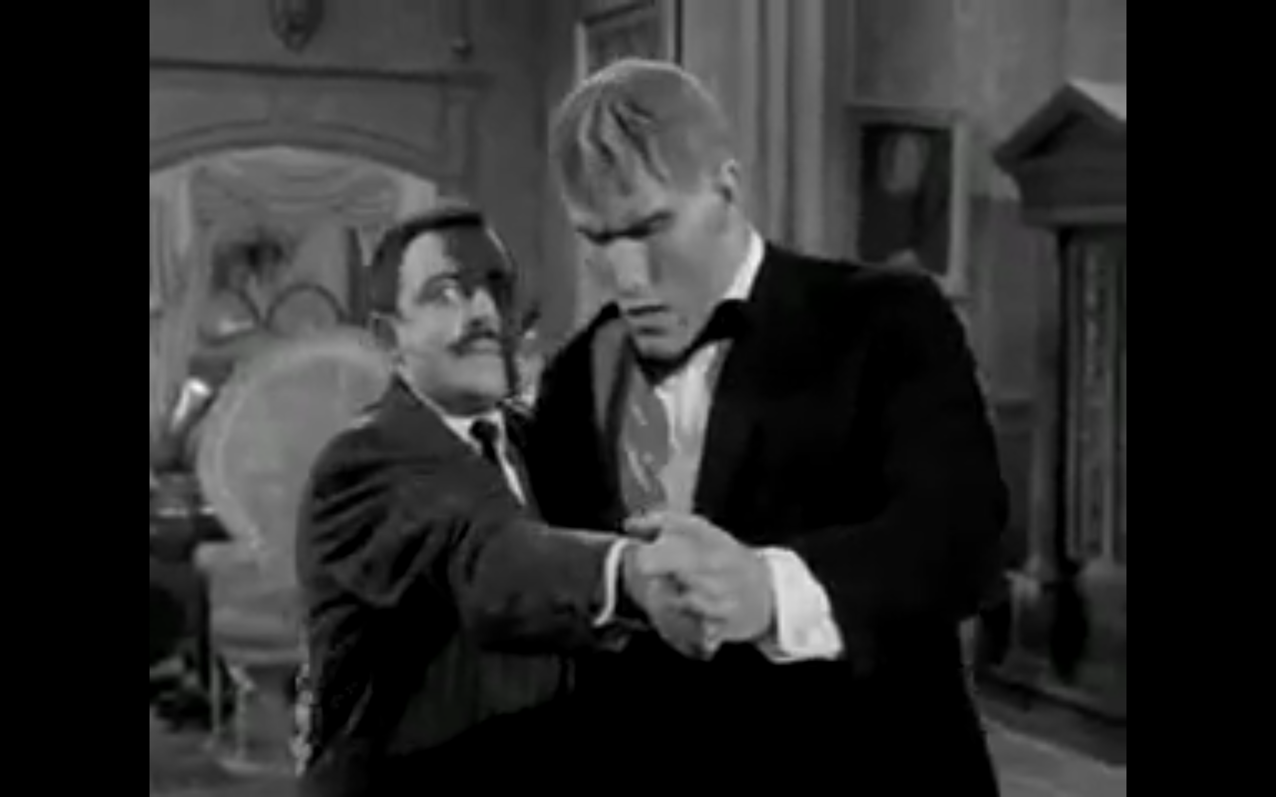 The Addams Family's Gomez and Lurch Tango Lesson, US TV, c1965